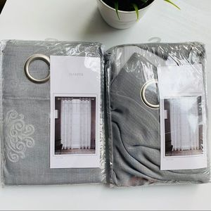 Canora Grey Noyes Sheer Rod Pocket Curtain Panels